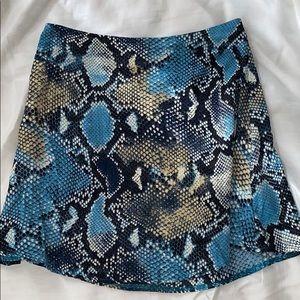 Princess Polly Snake Print Flowy Mini Skirt